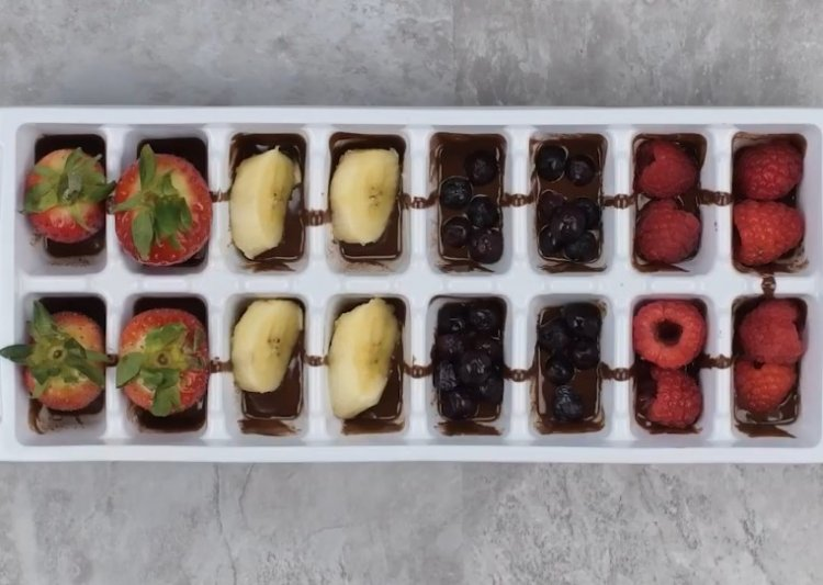 Watch: Creative Recipes Using Ice Cube Molds