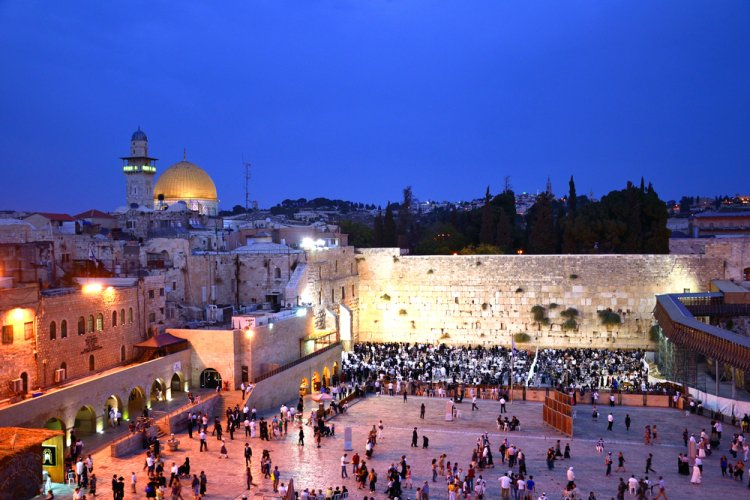 Kotel at Night / Shutterstock