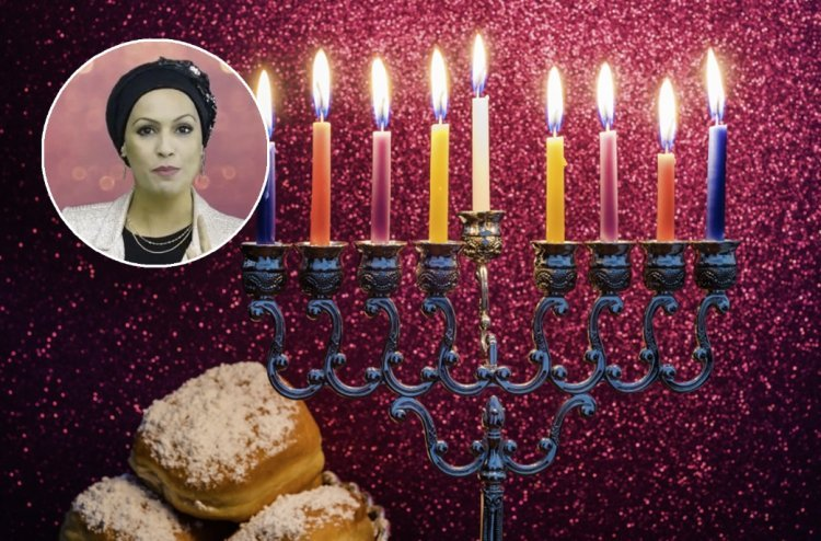 Hanukkah-  The Mother Lights up the House