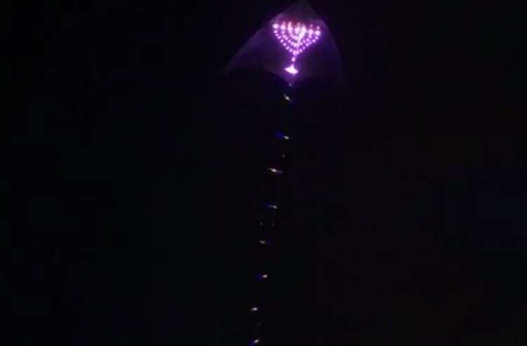 Huge Menorah Lights Up the Skies of Singapore - Watch