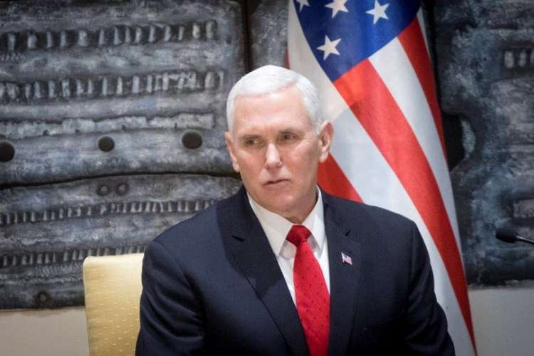 Vice President of the USA, Mike Pence (Picture: Miriam Alster / Flash90)