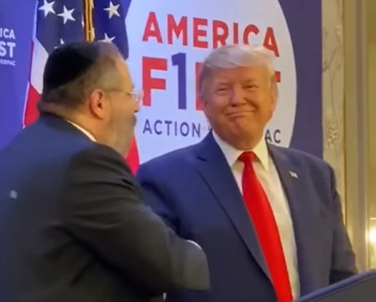 Rabbi YY Jacobson Blesses President Donald Trump - Must See