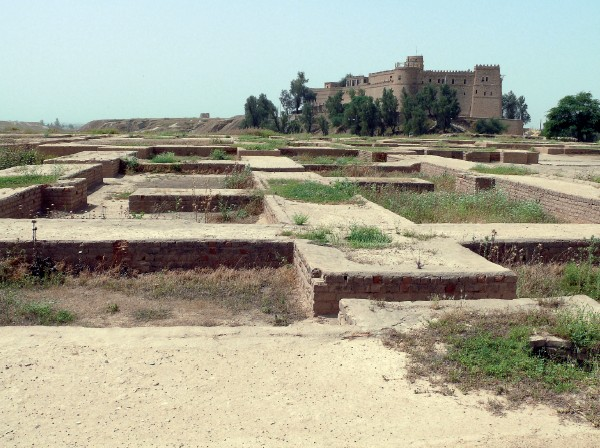 Remains of the palace of Ahasuerus in ancient Shushan, built on a high plateau that exists today