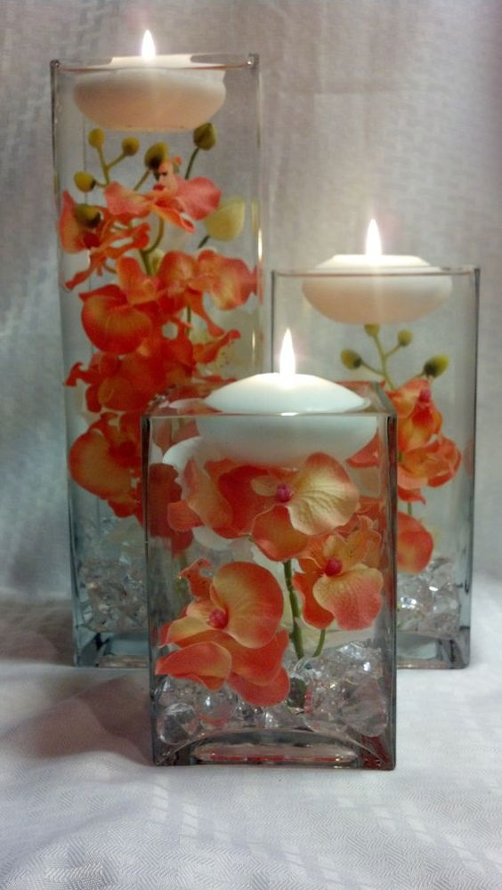 How To Make Centerpieces With Flowers And Floating Candles Flowers